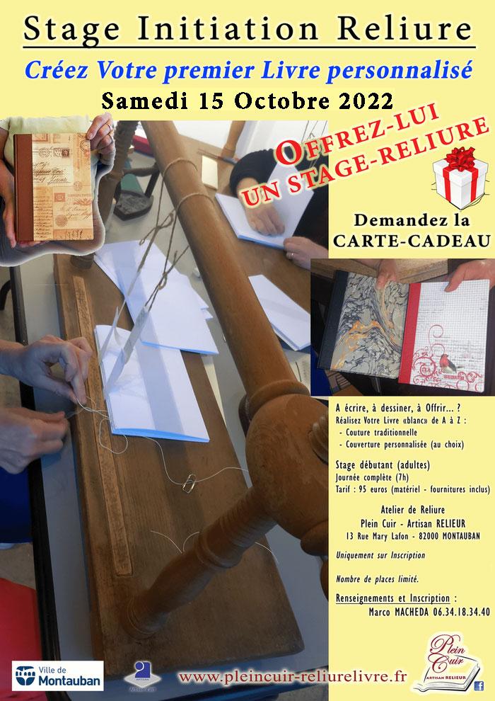 Plus d'infos sur Stage Initiation Reliure 17 février 2020 à Montauban
