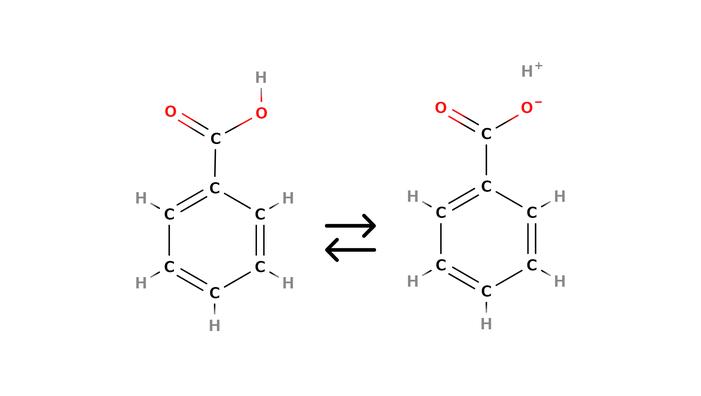 安息香酸の構造式
