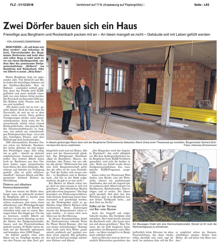 Flz Zwei Dörfer Bauen Sich Ein Haus Dorfverein Bergtheim