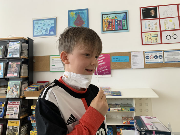 Jakob von der zweiten Klasse Grundschule Weißenbach