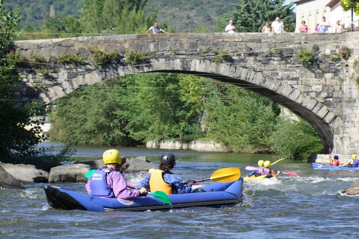 Cano raft sur l'Aude - Pyrénées Audoises