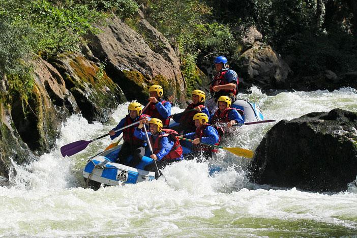 Rafting dans les Gorges de l'Aude - Pyrénées Audoises