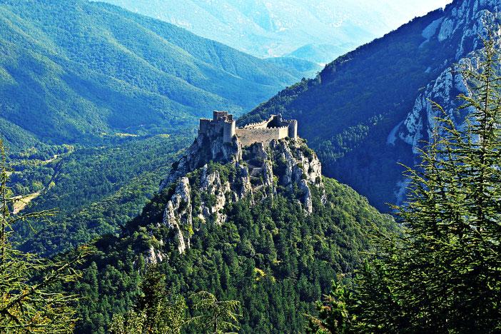 Château de Puilaurens, Pyrénées Audoises, Aude, France