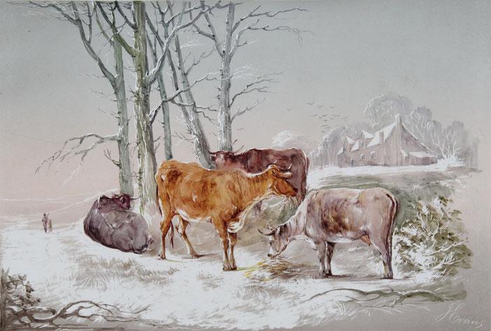 Karl Lang Archiv Büsingen Evans watercolor Aquarell