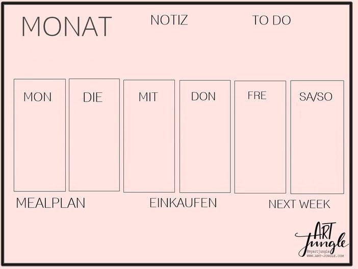 Bullet Jounral Layout Idee Gestaltung Wochenplan
