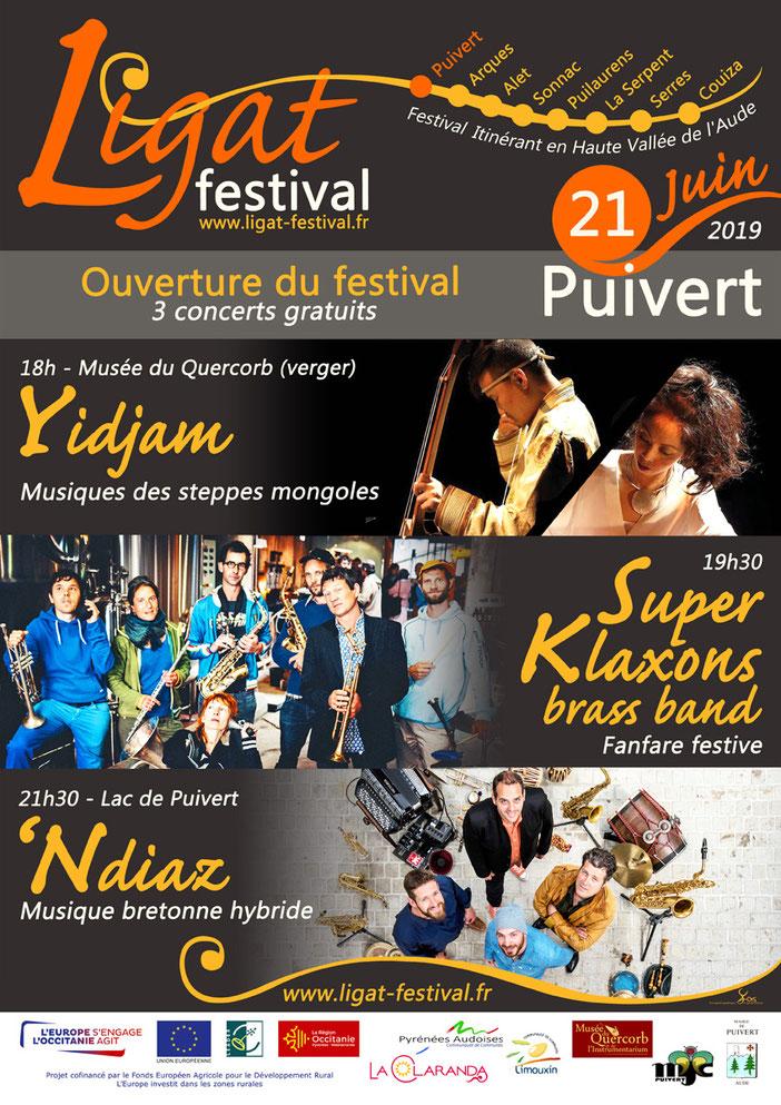 Ouverture Ligat Festival - Puivert - Yidjam - Super Klaxons brass band - 'Ndiaz