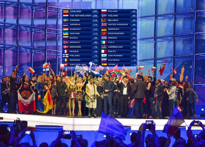 23 de maig del 2015: Albert Pla guanya a Viena el primer Festival d'Eurovisió en què participa Catalunya.