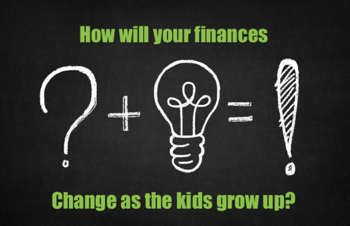 how will your finances change as the kids grow up, kids finishing high school, alter your budget, budget changes,