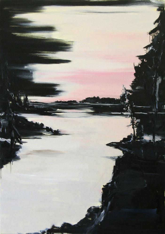 Matthieu van Riel. Schilderij. Zonder titel 170x120cm olie op doek 2011
