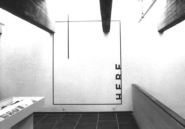 """Works by Peter Downsbrough in the exhibition 'D'une œuvre autre. Le livre d'artiste dans l'art contemporain"""", Mariemont 1996"""