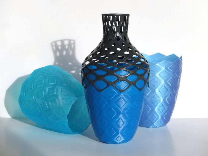 parametric vase - designed in grasshopper - julian sterz
