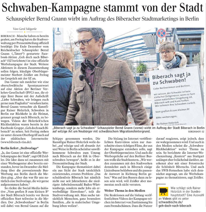 Zeitungsartikel vom 14.01.17, SZ