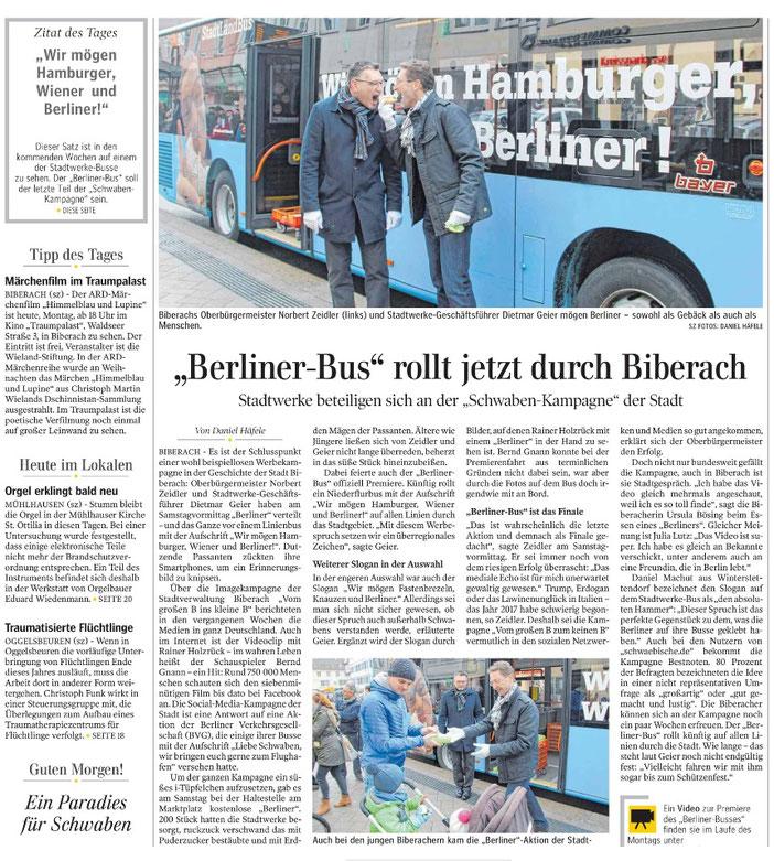 Zeitungsartikel vom 06.02.2017, SZ