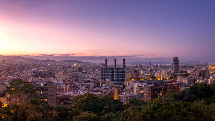 Barcelona zum Sonnenuntergang vom Montjuic von Tobias Gawrisch (XplorCreativity)
