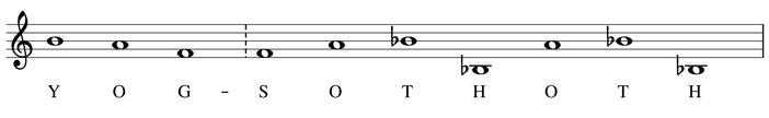 partition notes thème Yog-Sothoth