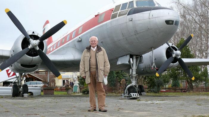 Vortrag Unger zur Geschichte der Interflug, IG Luftfahrt Dresden, Flugkapitän Gerhard Guettel