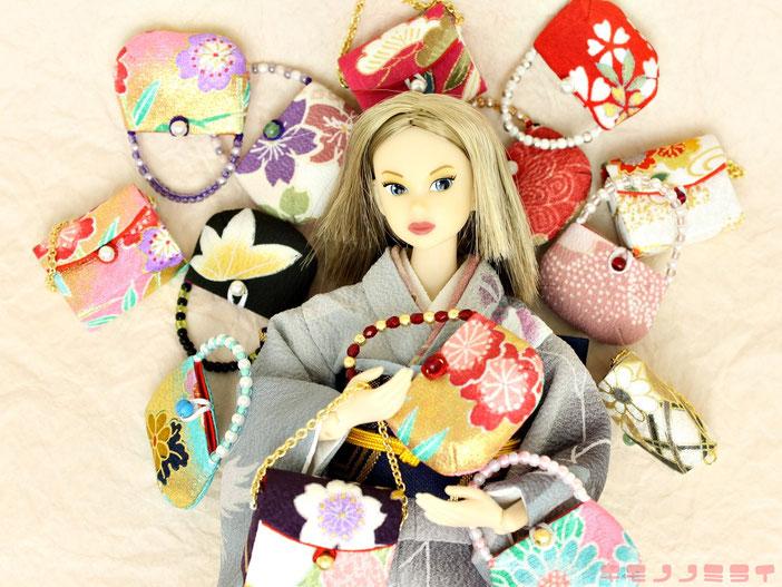 ドール バッグ,人形 着物,和装バッグ