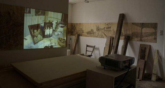 Atelieransicht  성 가일로프에서 모은 역사적 건축물의 일부