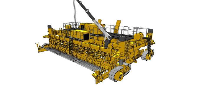 Plan d'une GP4000 reproduit par Christian Plasse pour modéliser des travaux