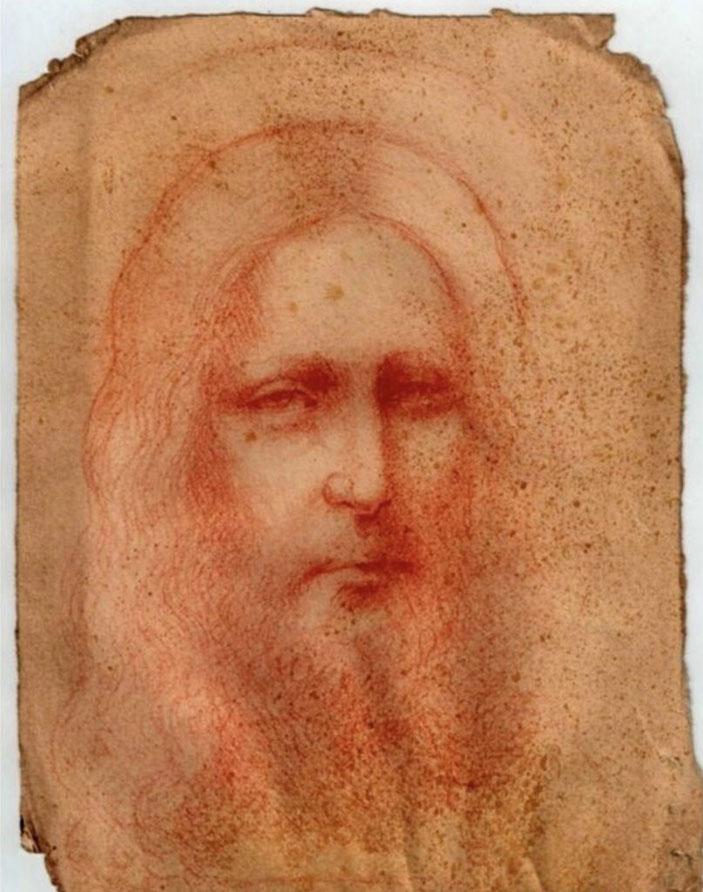 レオナルド・ダ・ヴィンチ《イエス・キリストのチョーク画》