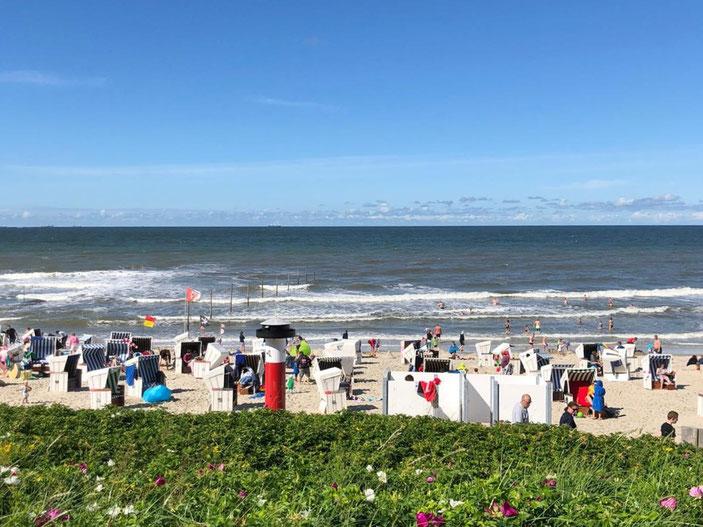 Am Ziel: Der Strand von Wangerooge