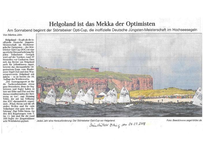 SOC 2018 (Quelle: Brunsbütteler Zeitung v. 04.07.2018)