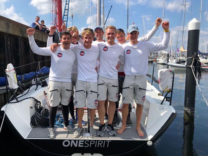 Geschafft! Platz 1 für die ONE Spirit auf den Baltic-Pre-Worlds,  (Foto: Paula Schälke)