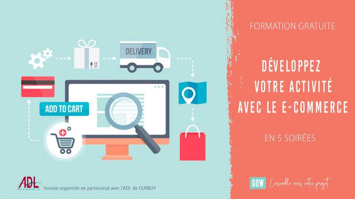 Formation | Créez votre site e-commerce avec l'ADL Durbuy et Gow !