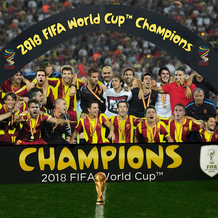 20 de juliol de 2018. La selecció catalana guanya el Mundial de Futbol a Moscou.