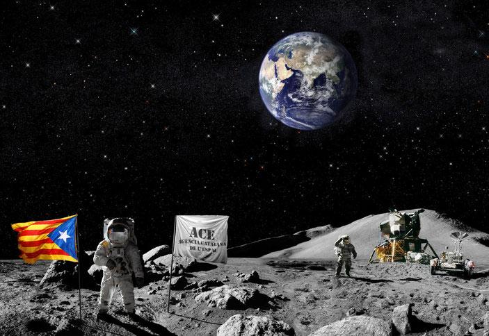 2023. L´Agència Catalana de l´Espai, ACE, fa les primeres prospeccions a la Lluna amb vistes a la futura colònia catalana al satèl·lit.