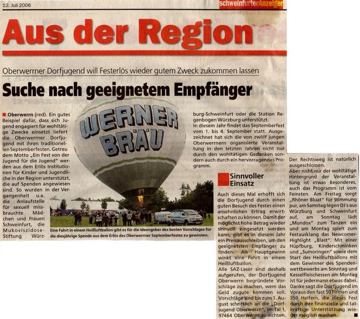 12.07.2006 Schweinfurter Anzeiger