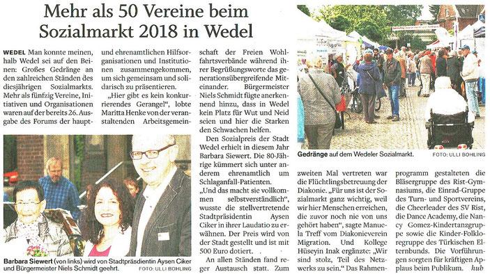 Wedel-Schulauer Tageblatt vom 03.09.2018