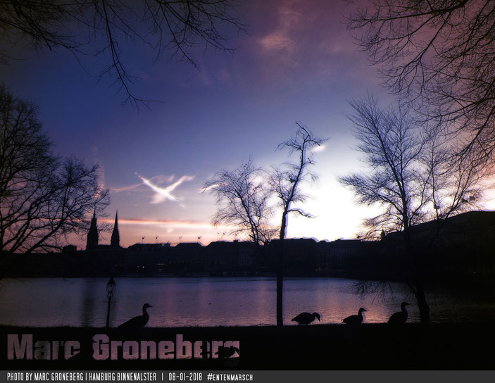 Entenmarsch an der Binnenalster | Photo & Edit by #MarcGroneberg | #Entenmarsch #Hamburg #Alster | © Marc Groneberg