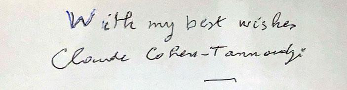 Autograph Claude Cohen-Tannoudji Autogramm