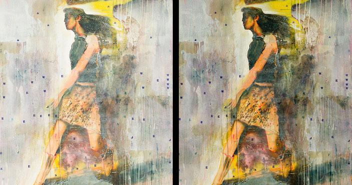 A destra una riproduzione sbagliata e a sinistra la fotografica correttamente realizzata fedele all'opera.