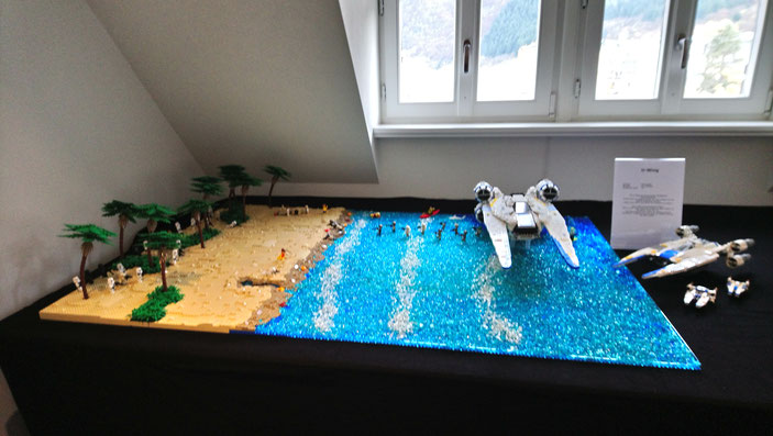 LEGO Star Wars U-Wing auf Scarif mit Strand