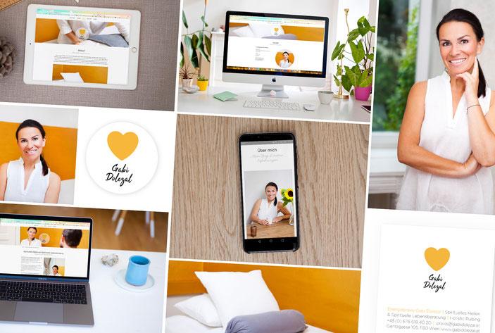 Energiepraxis Gabi Dolezal, Gesamtpaket webdesign, fotografie, logo, visitenkarte, corporate design