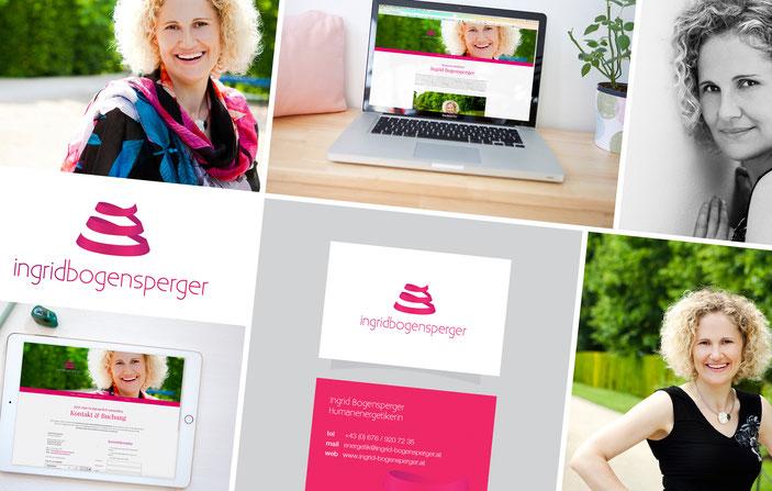 IngridBogensperger Frau Visitenkarten Grafikdesign