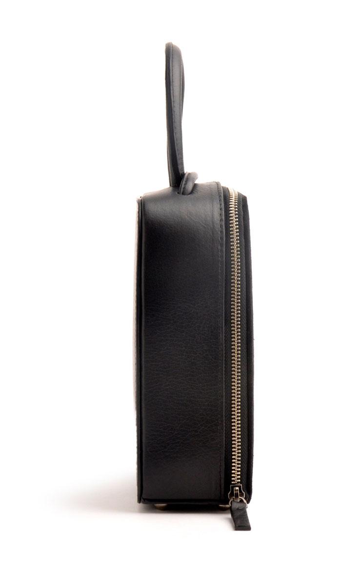 Handarbeit Ledermanufaktur OSTWALD Traditional Craft Trachtentasche schwarz