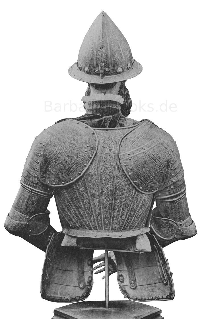 Rückseite Prunkrüstung aus der zweiten Hälfte des 16. Jahrhunderts