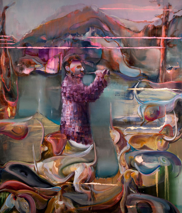 The gatherer, 150 x 130 cm, oil on linnen, 2019
