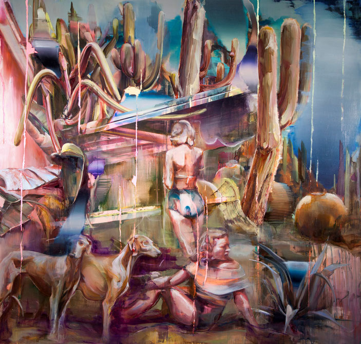 o.T. (sarasota), 220 x 200 cm, oil on linnen, 2019