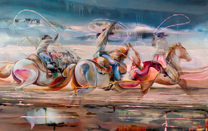 Triptec, 140 x 220 cm, oil on linnen, 2019