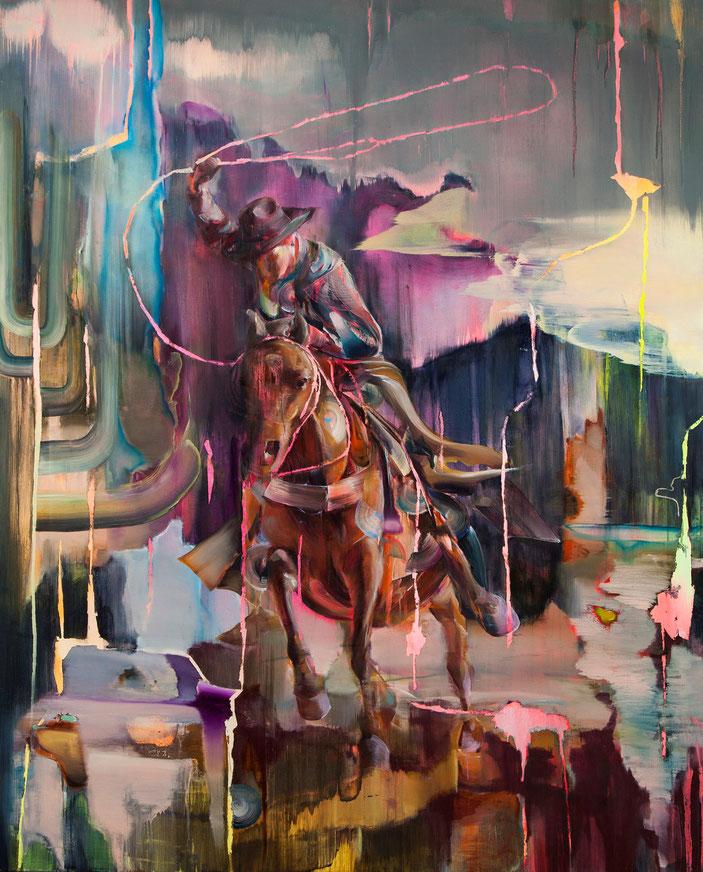 Lassoman II, 230 x 190 cm, oil on linnen, 2019