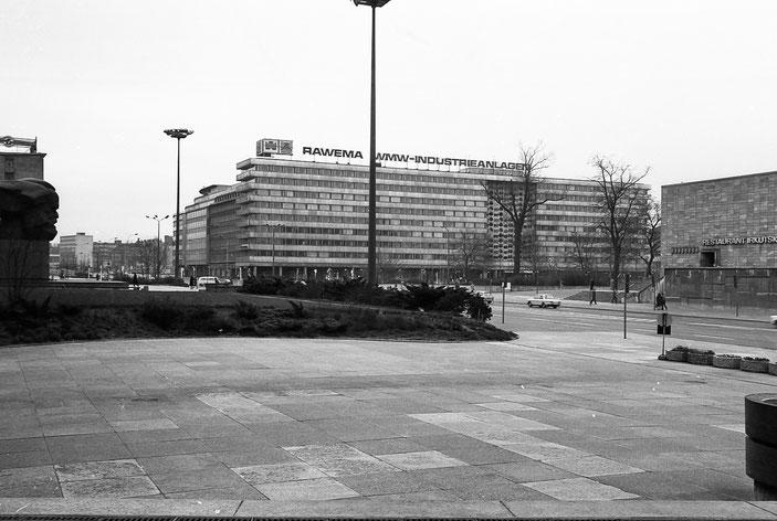Chemnitz, Karl-Marx-Stadt, 80er, 80ies, GDR, DDR, Deutsche Demokratische Republik, Nischel, Restaurant Irkutsk, Karl-Marx-Allee