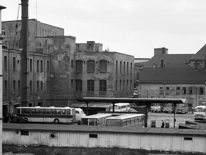 Karl-Marx-Stadt, Chemnitz, 80er, 80ies, Busbahnhof, DDR, GDR, Deutsche-Demokratische Republik