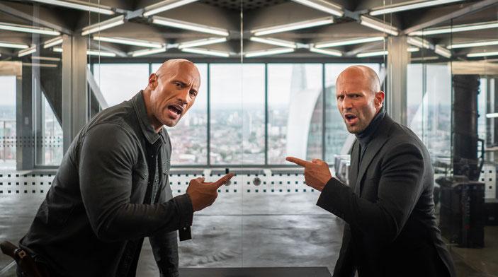 Aufeinandertreffen zweier Alpha-Tiere - Luke Hobbs trifft Deckard Shaw.