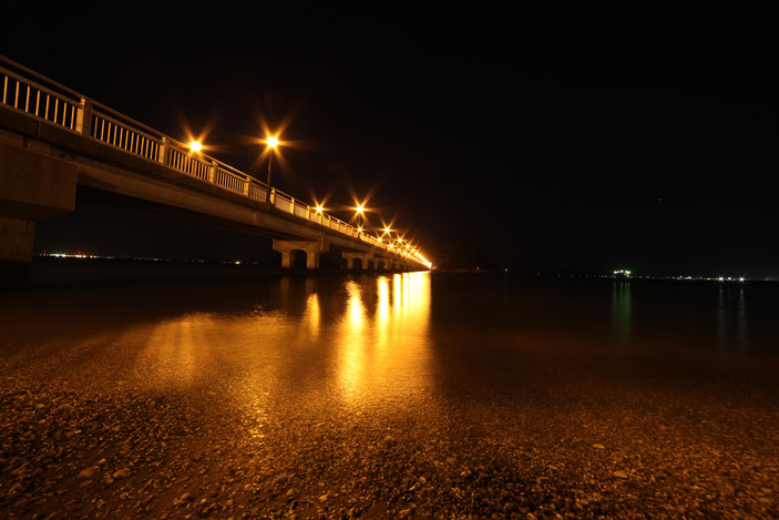 "竹島橋 CanonEOS5Dmk2 SAMYANG14mmF2.8 ISO100 14mm F11 30"" Tv photo : toshimasa"