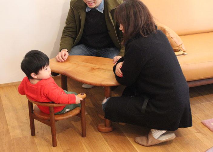 U字の子供椅子&テーブル(K様邸)