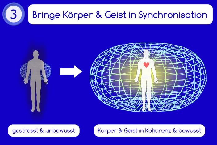 bringe körper und geist in synchronisation